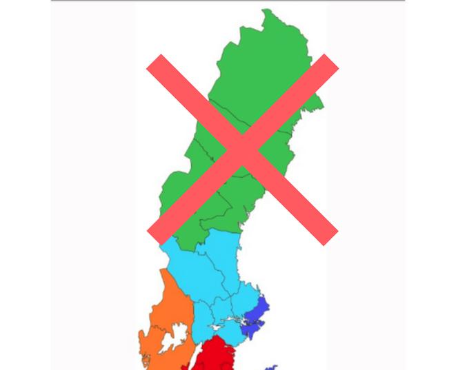 Regeringens besked idag: Stornorrland läggs på is!