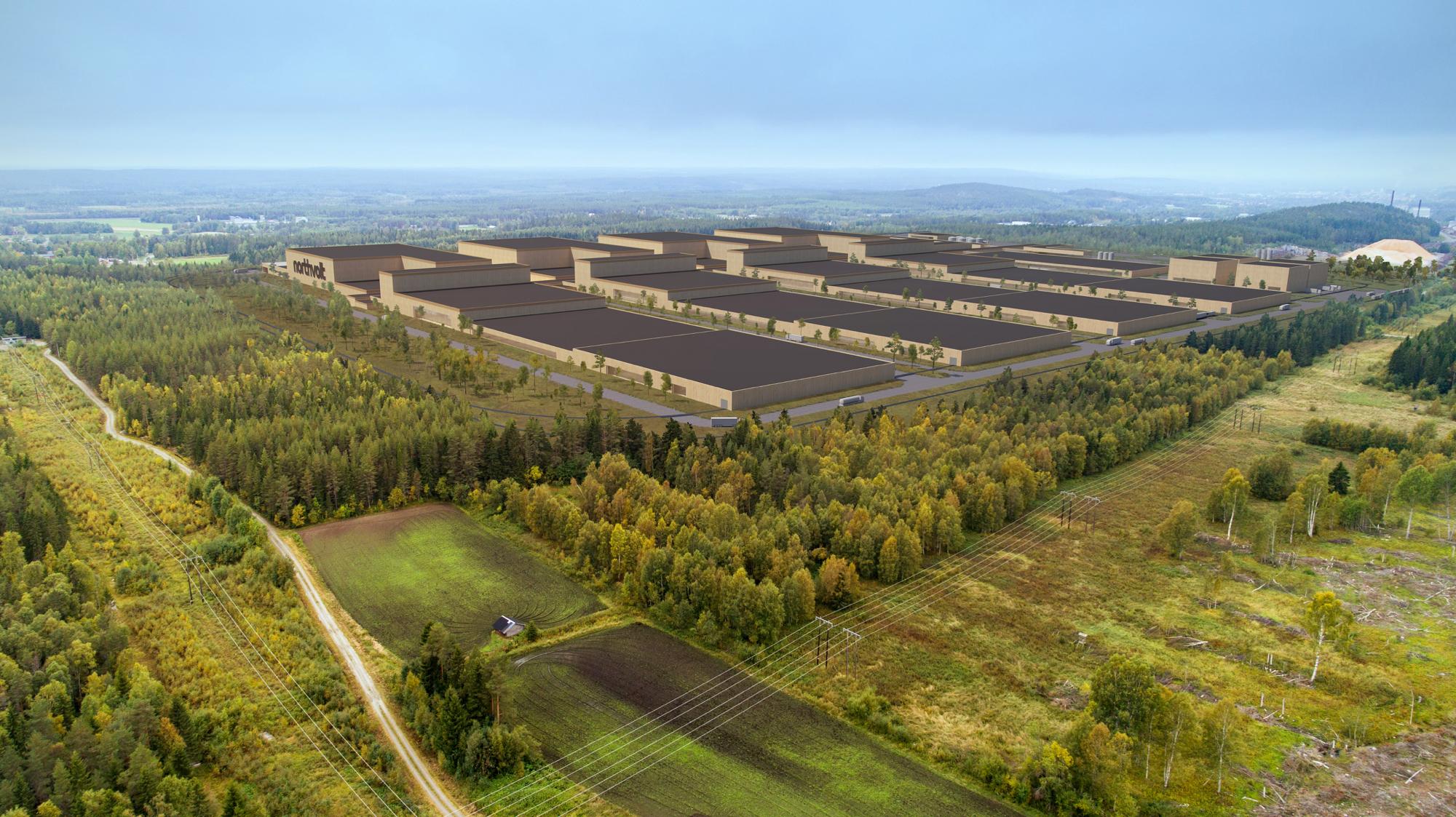 Northvolts stora batterifabrik hamnar i Skellefteå