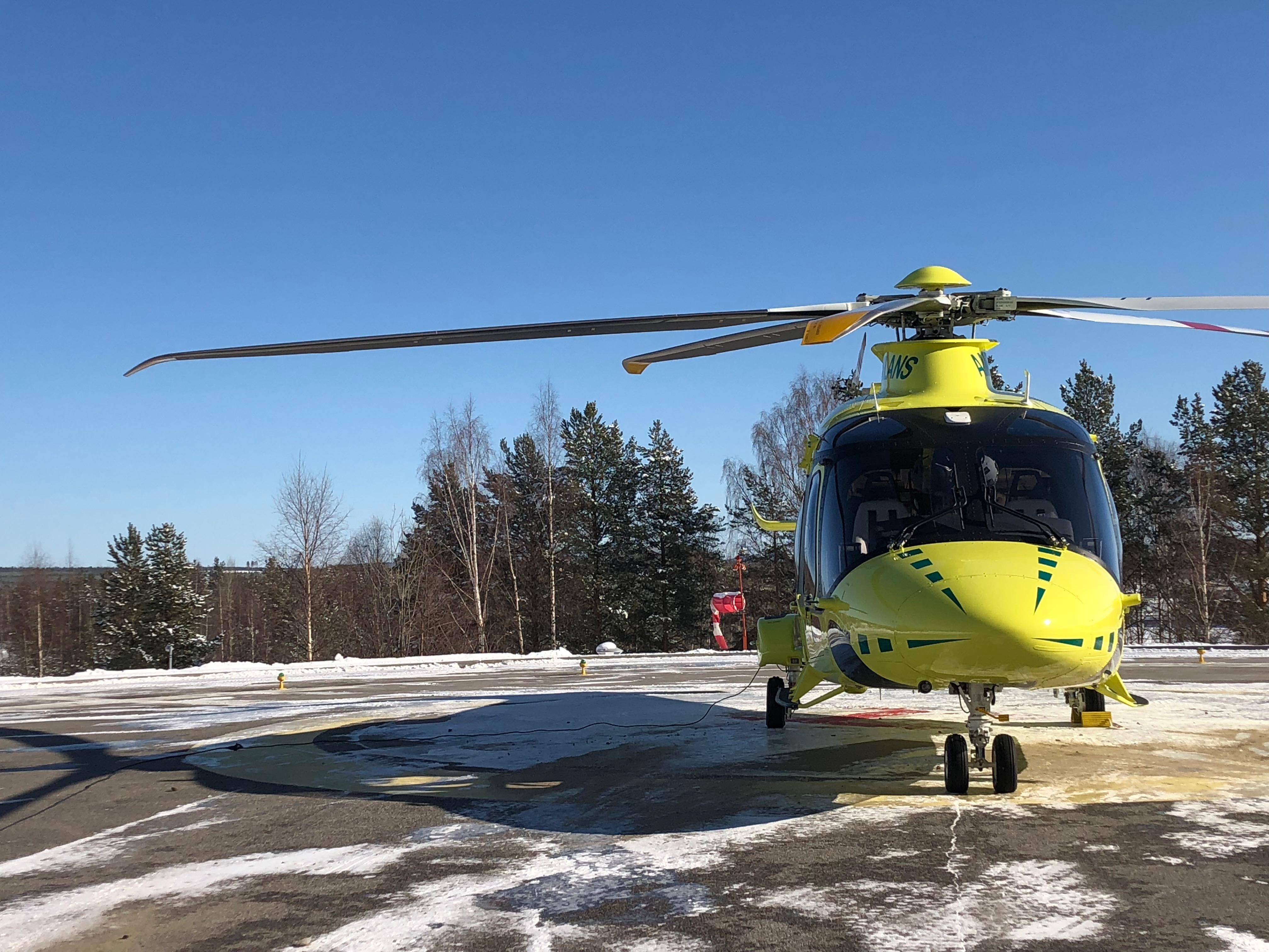 Nya ambulanshelikopter i Västerbotten som är modernast i Sverige