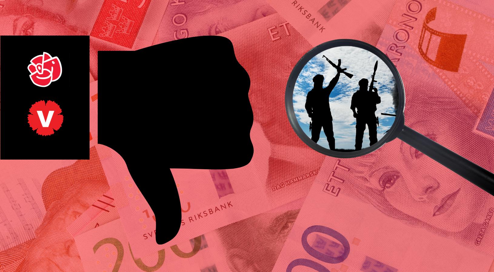 S och V vill inte utreda om skattepengar har gått till extremism