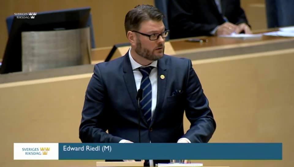 Edward Riedl (M) en av 55 ledamöter kvar i riksdagen
