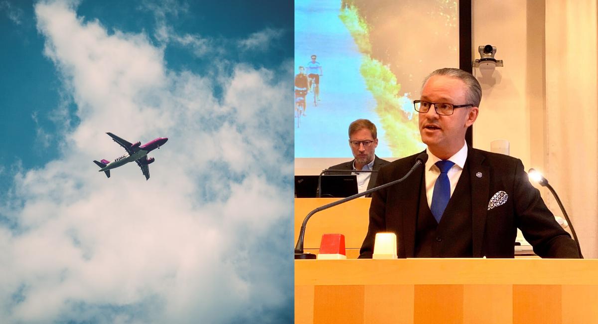 Kommunfullmäktige avslog Vänsterpartiets motion om flygstopp
