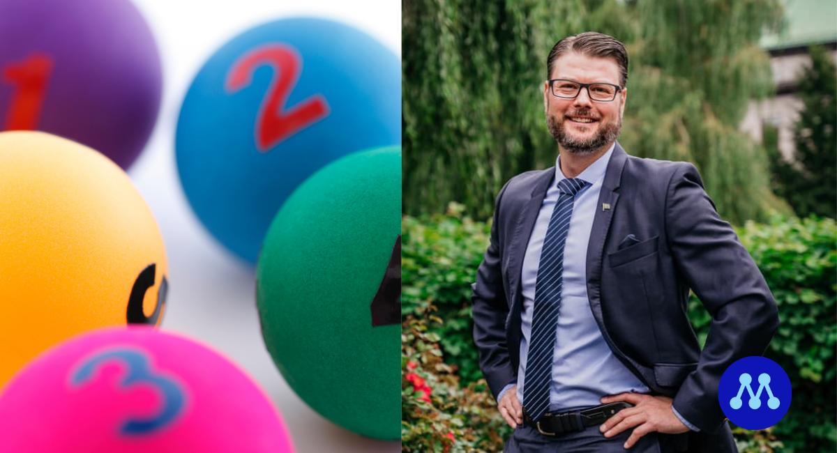 M startar lotteri: Edward Riedl (M) personen bakom idén